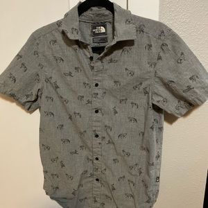 North Face Short Sleeve Button Up - Size S